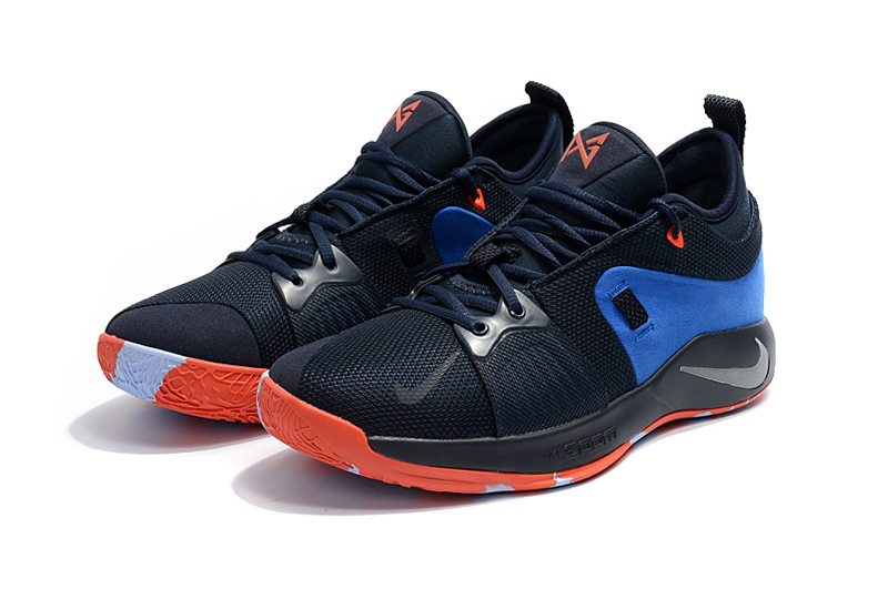 2018 Men Nike PG 2 Black Blue Shoes